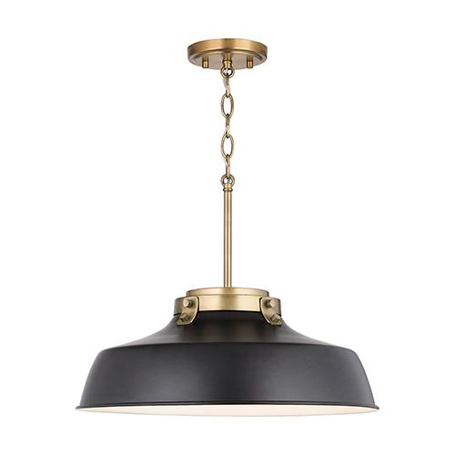 Oakwood Matte Black One-Light Pendant