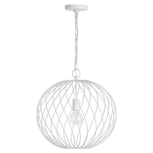 Glenda Blanc Glossy White One-Light 17-Inch Orb Pendant