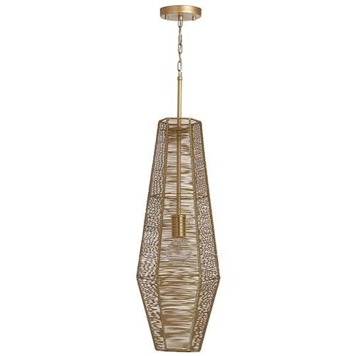 Sonja Honey Gold One-Light 10-Inch Pendant