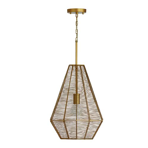 Sonja Honey Gold One-Light 15-Inch Pendant