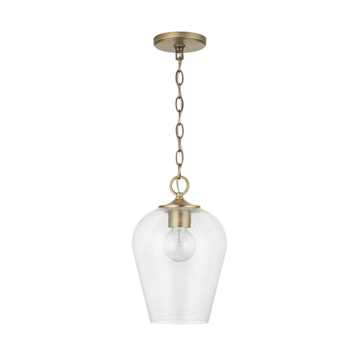 Verret Aged Brass One-Light Mini Pendant