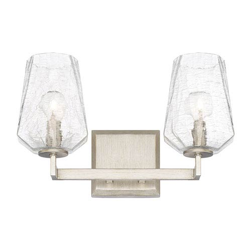 Arden Brushed Silver Two-Light Vanity
