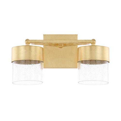 Capital Lighting Fixture Company Regan Capital Gold Two-Light LED Bath Vanity