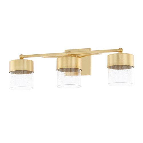 Regan Capital Gold Three-Light LED Bath Vanity