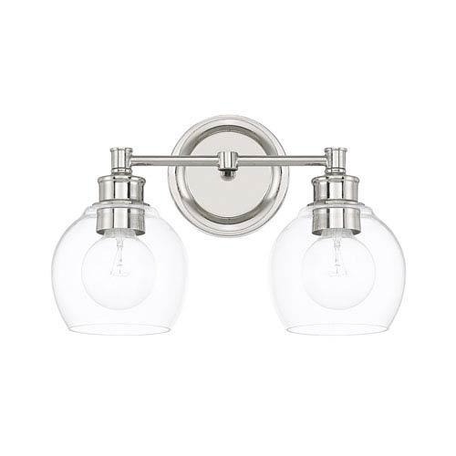 Mid Century Lighting Fixtures Intended Capital Lighting Fixture Company Midcentury Polished Nickel Twolight Bath Vanity Mid Century Two