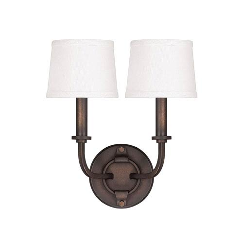 Capital Lighting Fixture Company Chastain Tobacco Two Light Sconce with Shades