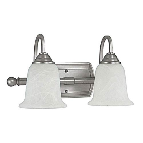 Capital Lighting Fixture Company Metro Matte Nickel Two-Light Bath Fixture