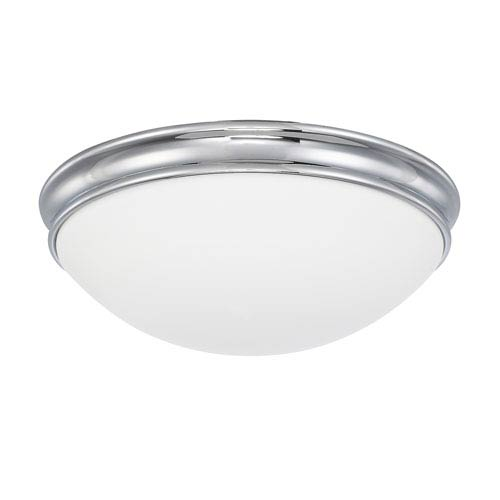 Capital Lighting Fixture Company Chrome Three-Light Flush Mount