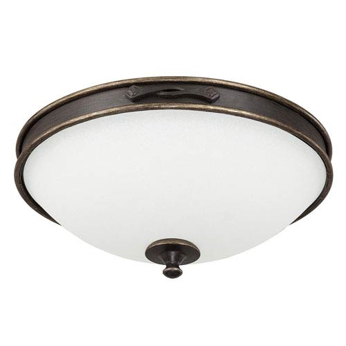 Capital Lighting Fixture Company Wyatt Surrey Three-Light Flush Mount with Misty White Glass