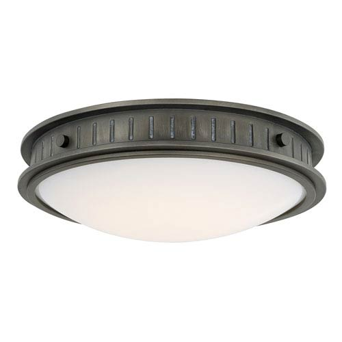 Nash Gunmetal One-Light LED Flush Mount