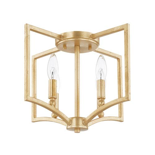 gold flush mount light quoizel liberty park capital lighting fixture company regan gold fourlight flush mount four light
