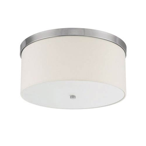 Capital Lighting Fixture Company Studio Polished Nickel Three-Light Flush Mount with White Shade