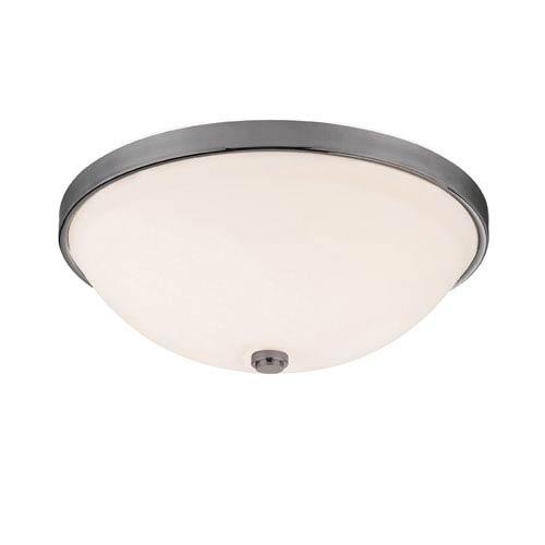Capital Lighting Fixture Company Matte Nickel Three-Light Flush Mount