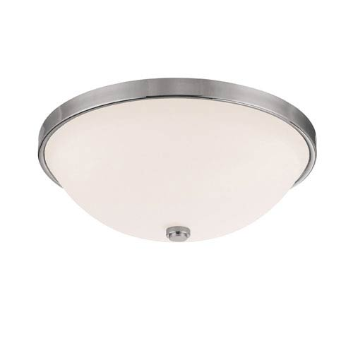 Capital Lighting Fixture Company Polished Nickel Three-Light Flush Mount