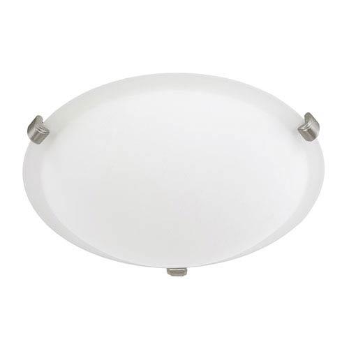 Soft White Two-Light Flush Mount
