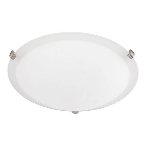 Soft White Three-Light Flush Mount