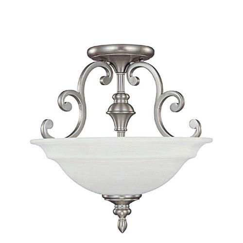 Capital Lighting Fixture Company Chandler Matte Nickel Semi Flush Ceiling Light