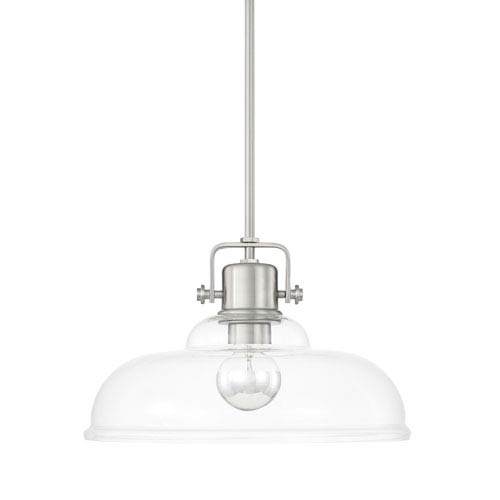 Capital Lighting Fixture Company Brushed Nickel 16-Inch One-Light Pendant