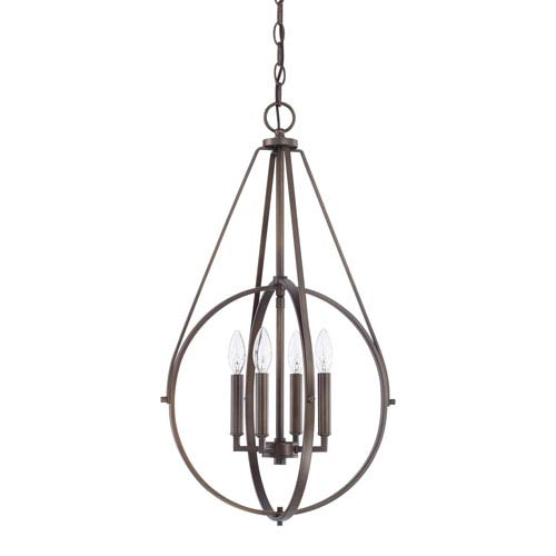 Burnished Bronze Four-Light Pendant