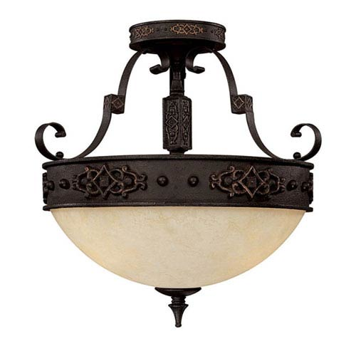 River Crest Semi-Flush Ceiling Light