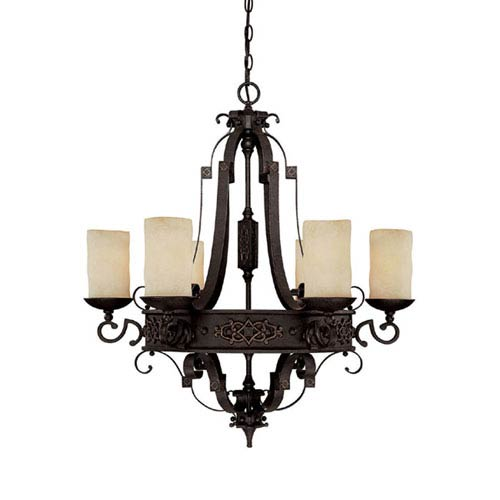Capital Lighting Fixture Company River Crest Six-Light Chandelier