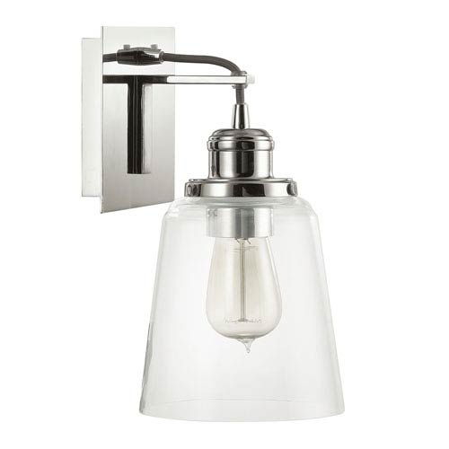 Capital Lighting Fixture Company Polished Nickel One-Light Wall Sconce with Clear Glass