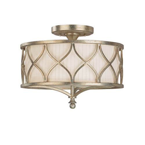 Capital Lighting Fixture Company Fifth Avenue Winter Gold Three-Light Semi-Flush