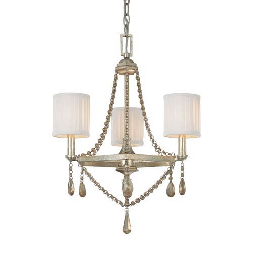 Capital Lighting Fixture Company 5th Avenue Winter Gold Three-Light Chandelier