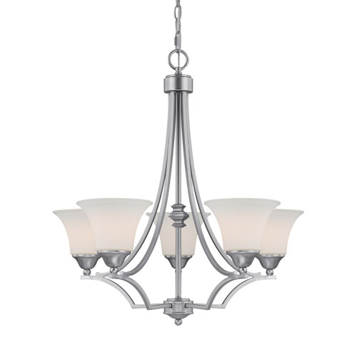 Capital Lighting Fixture Company Towne and Country Matte Nickel Five-Light Chandelier