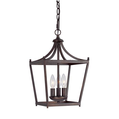 Capital Lighting Fixture Company Stanton Burnished Bronze Three-Light Foyer Pendant