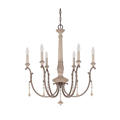 Country chandeliers country style chandelier lighting bellacor chateau french oak six light chandelier with solid wood column aloadofball Image collections