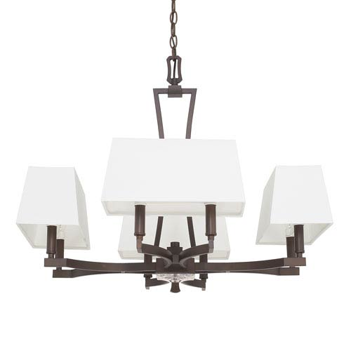 Capital Lighting Fixture Company Westbrook Burnished Bronze Eight-Light 28-Inch Wide Chandelier