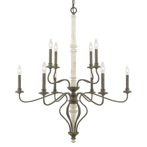 Nora French Country Ten-Light Chandelier