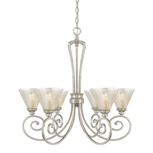 Corrigan Antique Silver Six-Light Chandelier