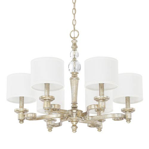 Carlyle Gilded Silver Six-Light Chandelier