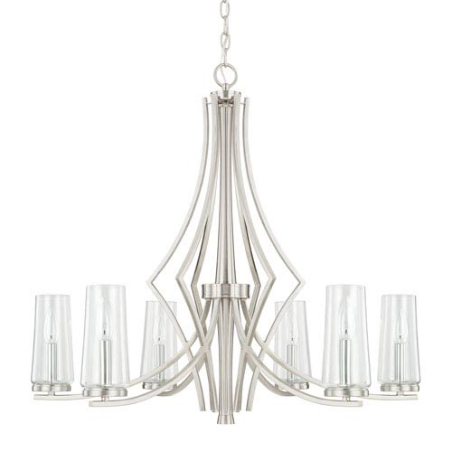 Donny Osmond Stella Brushed Nickel Six-Light Chandelier