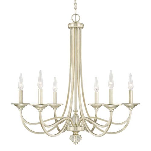 Donny Osmond Windsor Soft Gold Six-Light Chandelier