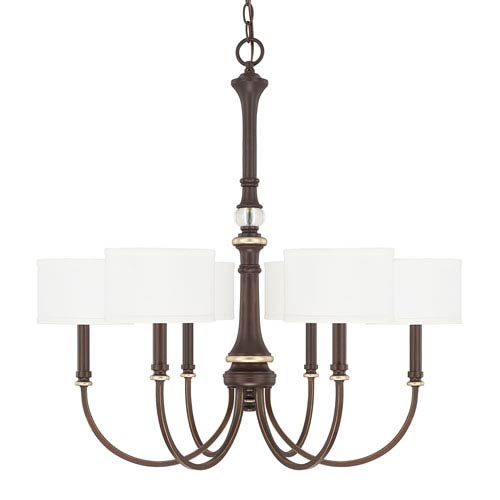 Asher Champagne Bronze Six-Light 30-Inch Chandelier