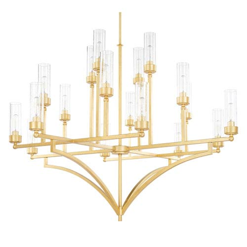 Capital Lighting Fixture Company Regan Capital Gold 18-Light Chandelier
