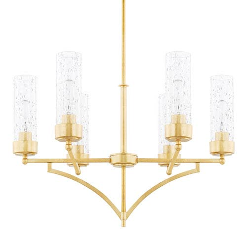 Capital Lighting Fixture Company Regan Capital Gold Six-Light Chandelier