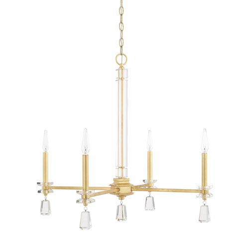 Milan Capital Gold Four-Light Chandelier