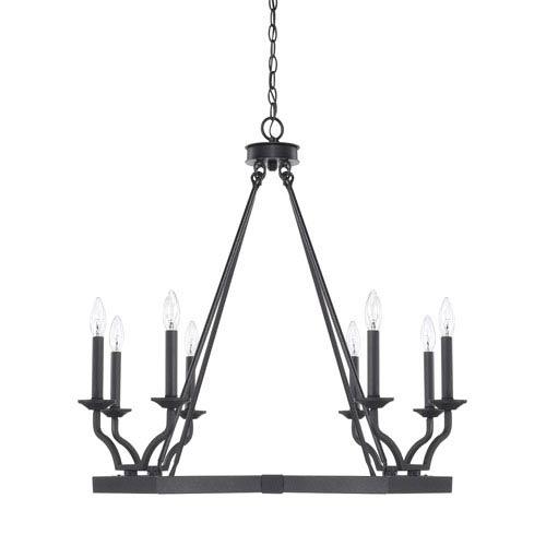 Amazing Capital Lighting Fixture Company Ravenwood Black Iron Eight Light Chandelier Ideas