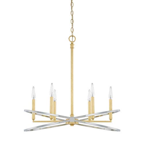 Fire and Ice Six-Light Chandelier
