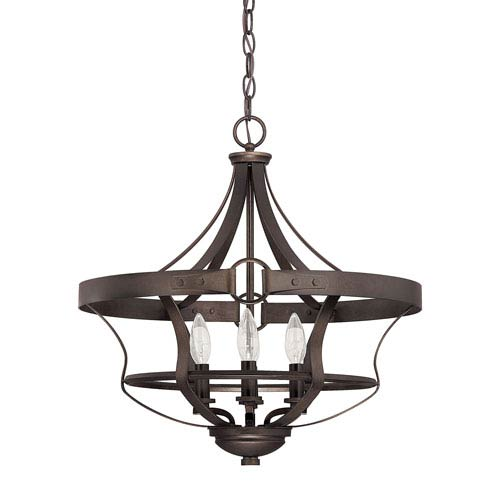 Capital Lighting Fixture Company Chastain Tobacco Four Light Foyer