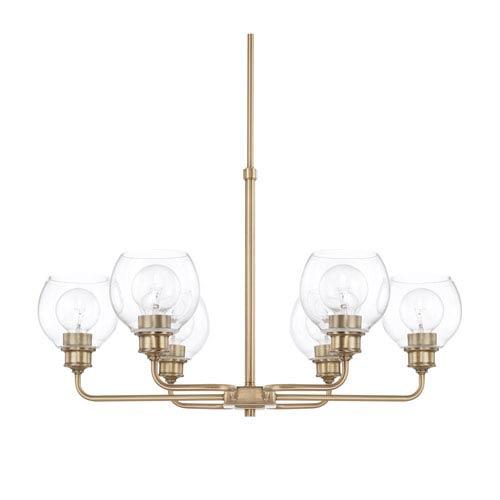 mid century lighting fixtures 1950's capital lighting fixture company midcentury aged brass sixlight chandelier mid century six light