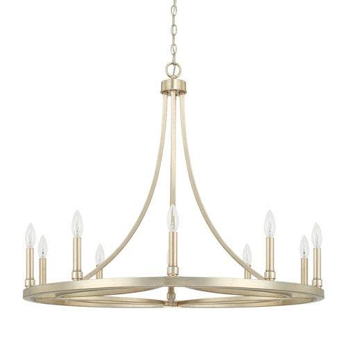 Mercer Winter Gold 10 Light Chandelier