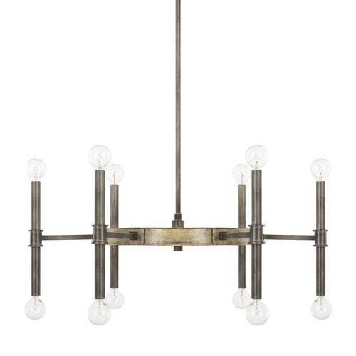 Gavin Iron and Gold 28-Inch 12-Light Chandelier