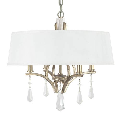 Capital Lighting Fixture Company Margo Winter Gold Four-Light Dual Mount Pendant