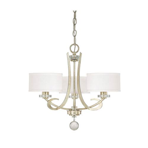 Capital Lighting Fixture Company Hutton Winter Gold Three Light Chandelier with Shades