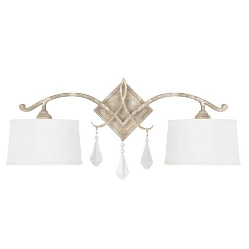 Capital Lighting Fixture Company Harlow Silver Quartz Two-Light Sconce with Crystal